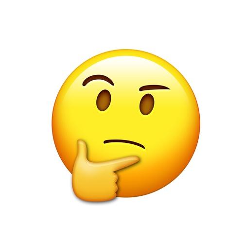 think emoji